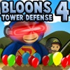 playing Bloons Tower Defense 4 game